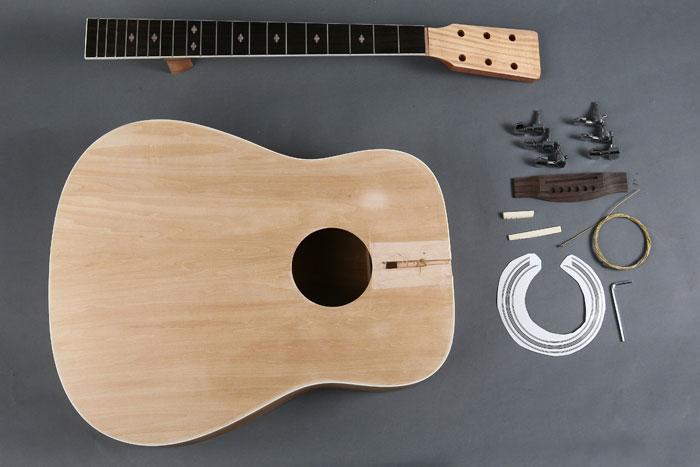 unfinished 41 dreadnought acoustic guitar diy kit gk s4112 byguitar. Black Bedroom Furniture Sets. Home Design Ideas